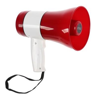 Мегафон ручной MG-619U, 20 Вт, сирена, MP3 плеер, запись/воспр 240, красный