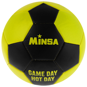 Мяч футбольный MINSA GAME DAY HOT DAY, размер 5, 32 панели, PVC, бутиловая камера, 260 г