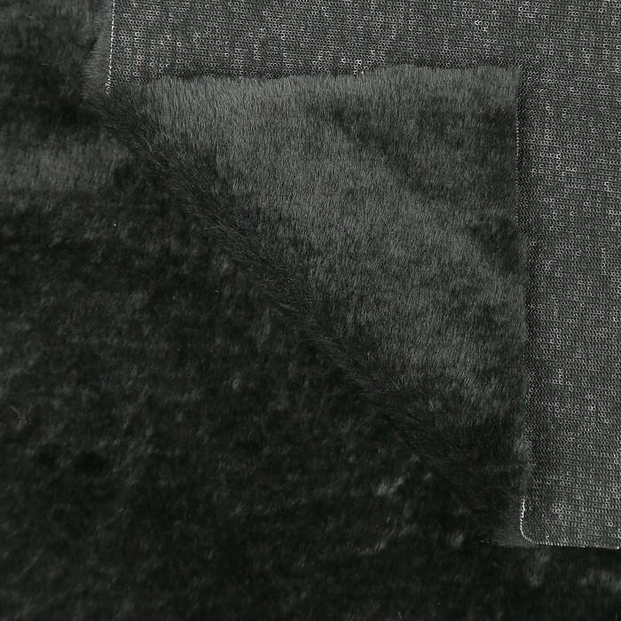 Искусственный мех 100% полиамид, плотность 380г/м2, 50*50 см (черный)