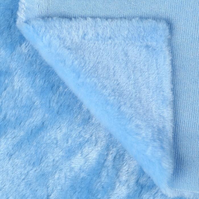Искусственный мех 100% полиамид, плотность 380г/м2, 50*50 см (св. голубой)