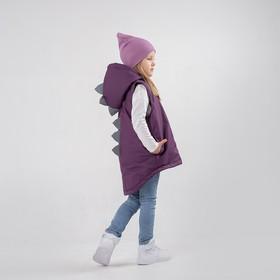 Жилет для девочки, цвет фиолетовый, рост 122 см
