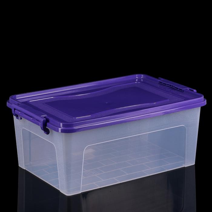 Контейнер для хранения 20 л, прямоугольный, цвет МИКС - фото 308334736