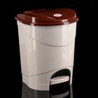 Контейнер для мусора с педалью 11 л, цвет бежевый мрамор