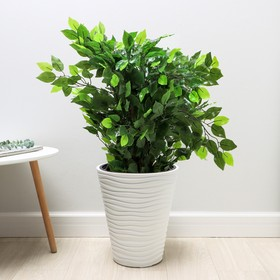 Кашпо со вставкой «Дюна», 19,5 л, цвет белый
