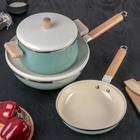 """Набор посуды """"Эстет"""", 3 предмета: кастрюля 21 см, сковорода 24 см, вок 30 см"""