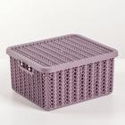 """Коробка 1,5 л """"Вязание"""", с крышкой, цвет пурпурный"""