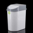 Контейнер для мусора 5 л, цвет мраморный - фото 4645449