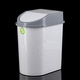 Контейнер для мусора 5 л, цвет мраморный