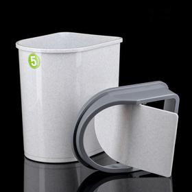 Контейнер для мусора 5 л, цвет мраморный - фото 4645451