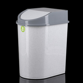 Контейнер для мусора 8 л, цвет мраморный