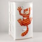 Комод детский 3-х секционный «Альт Деко: Кот», цвет белый