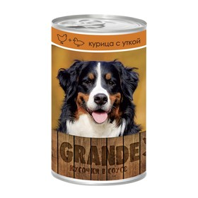 Влажный корм VitaPRO GRANDE для собак, курица/утка, ж/б, 1250 г