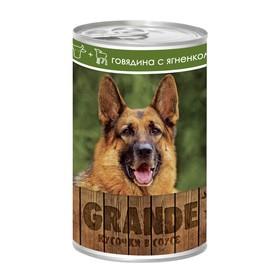 Влажный корм VitaPRO GRANDE для собак, говядина/ягненок, ж/б, 1250 г