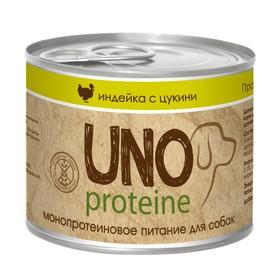 Влажный корм VitaPRO UNO proteine для собак, индейка/цукини, ж/б, 195 г Ош