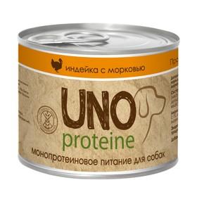 Влажный корм VitaPRO UNO proteine для собак, индейка/морковь, ж/б, 195 г Ош