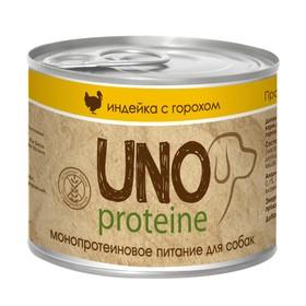 Влажный корм VitaPRO UNO proteine для собак, индейка/горох, ж/б, 195 г Ош