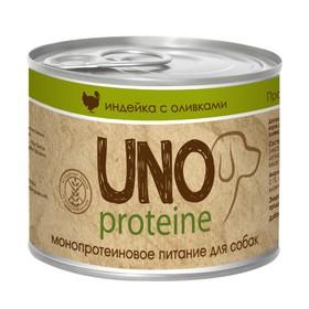 Влажный корм VitaPRO UNO proteine для собак, индейка/оливки, ж/б, 195 г Ош