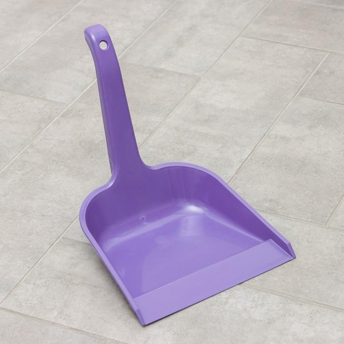 Совок для мусора квадратный с ручкой, цвет МИКС