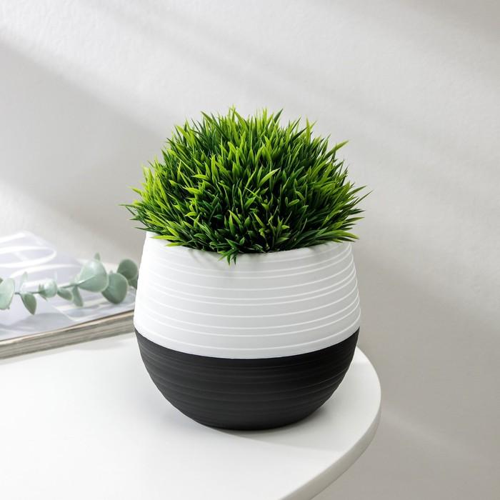 Кашпо «Дуэт», 500 мл, цвет чёрно-белый