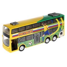 Автобус металлический, инерционный, световые и звуковые эффекты, двери открываются