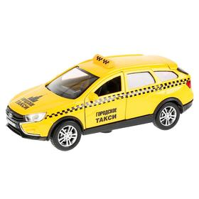 Машина металлическая LADA VESTA SW CROSS «Такси», 12 см, инерционная, открываются двери