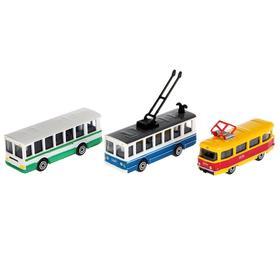 Машина металлическая «Городской транспорт», масштаб 1:72, МИКС