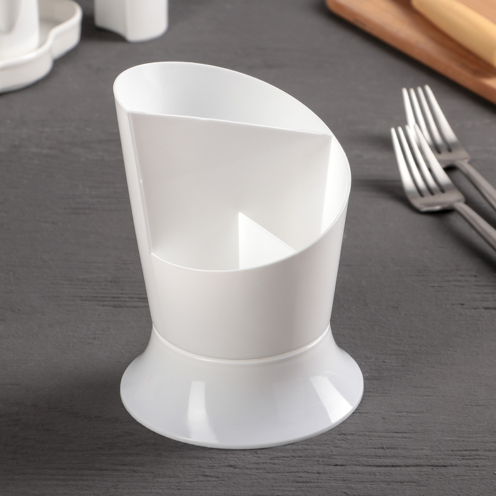 """Сушилка для столовых приборов """"Факел"""", цвет белый"""