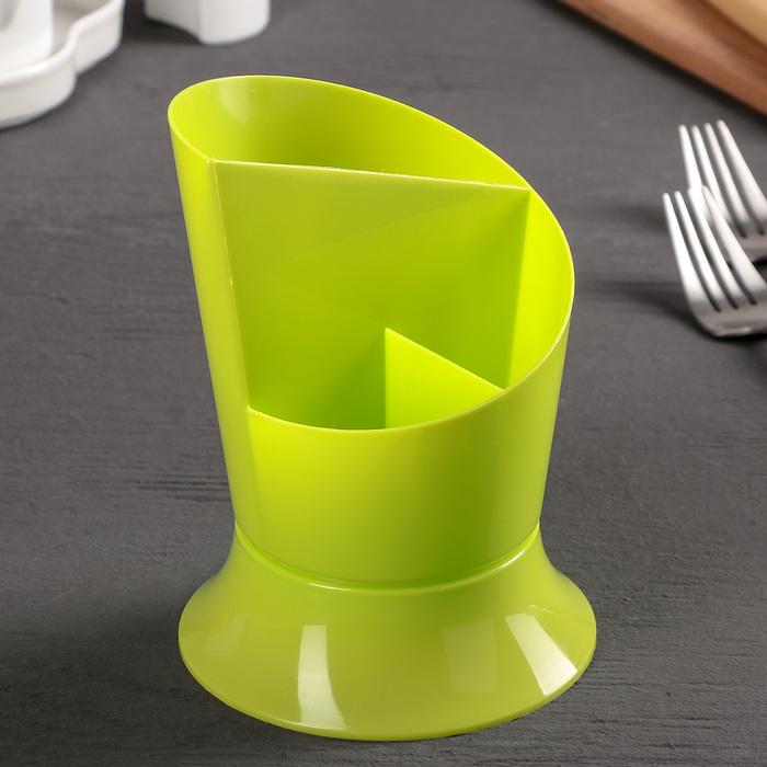 """Сушилка для столовых приборов """"Факел"""", цвет салатовый"""