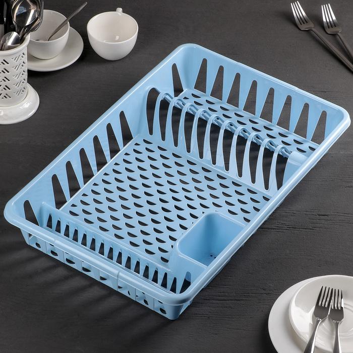 """Сушилка для посуды """"Большая"""", цвет голубой"""