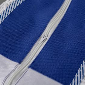 Насадка для плоской швабры, 80×14 см, х/б, цвет бело-синий - фото 4647579