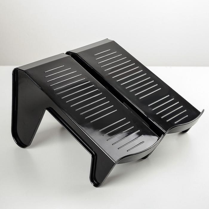 Подставка для пары обуви, комплект 2 штуки, цвет чёрный
