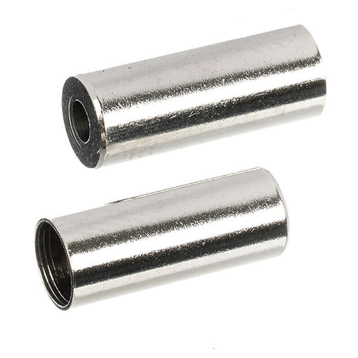 Наконечники оплетки троса переключения, STG HJ-D92N алюм. 4.3мм, 20 штук, цвет серебро