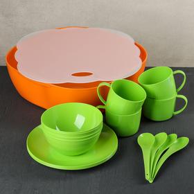 Набор посуды MiX, на 4 персоны, 18 предметов