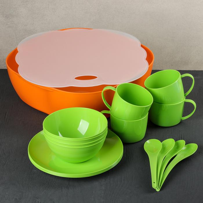 Набор посуды на 4 персоны MiX, цвет МИКС