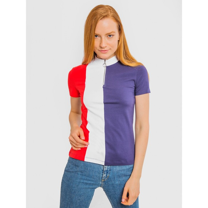 Джемпер (футболка) женский, цвет коралловый, р-р 48 (L)