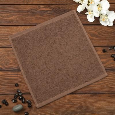 Полотенце махровое Spany Grace, 30х30 см, шоколадный, 360гр/м²