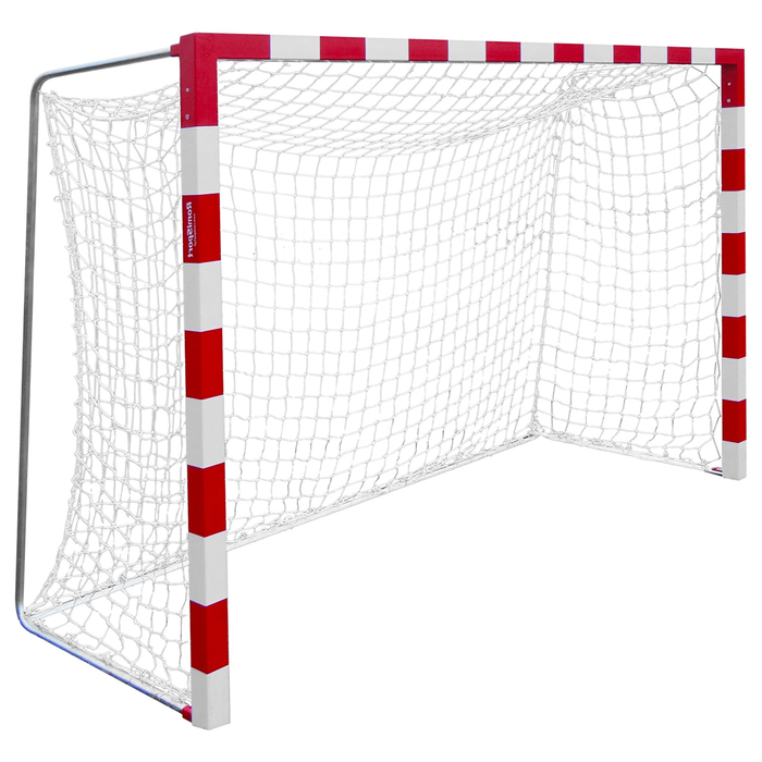 Сетка для гандбола/мини-футбола, нить 2,2 мм, ячейки 40 х 40 мм, цвет белый/синий