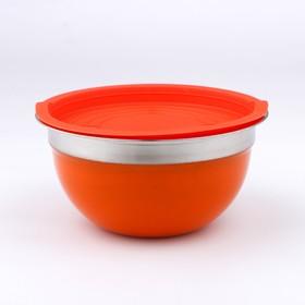 Салатник с пластиковой крышкой, 1,2 л, 18 см, толщина 0,5 мм