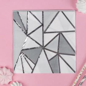 Салфетки бумажные «Геометрия», 33х33 см, набор 16 шт.