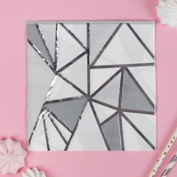 """Салфетки бумажные """"Геометрия"""" 33х33 см, набор 16 шт"""