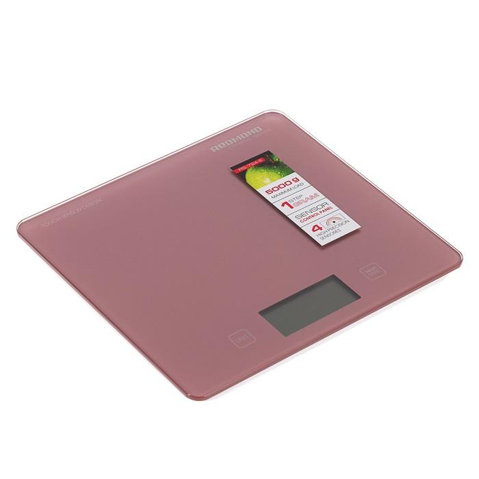 Весы кухонные REDMOND RS-724-E, электронные, до 5 кг, розовые