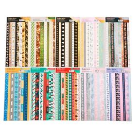 Набор наклеек с фольгированием «Тесьма», 12 × 29,5 см