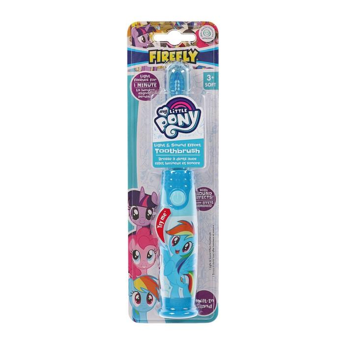 Зубная щётка My little Pony LP-6.1, звуковой эффект, мягкая щетина, несъемная батарейка