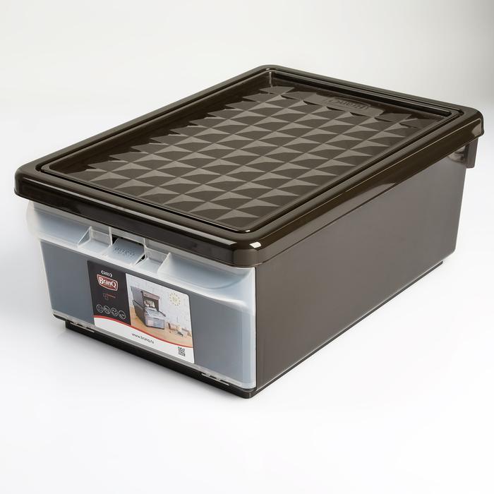 Ящик для хранения с боковой дверцей 15 л, цвет венге