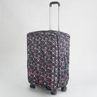 """Чехол для чемодана, 24"""", с расширением по периметру, цвет чёрный"""