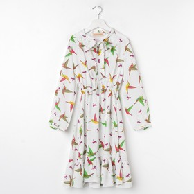 Платье Колибри, цвет белый, р-р 34 (рост 140-146)