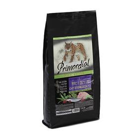 Сухой корм PRIMORDIAL для стерилизованных кошек, беззерновой, индейка/сельдь, 6 кг