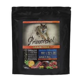 Сухой корм PRIMORDIAL для собак, беззерновой, тунец/ягнёнок, 400 г