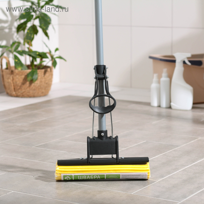 MOP with PVA roller wringer, telescopic handle, 120 cm