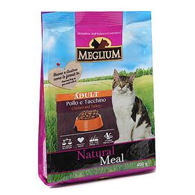 Сухой корм MEGLIUM ADULT для кошек, курица/индейка, 400 г